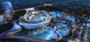 Water park construction in China